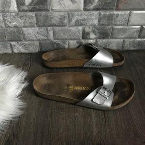 Birkenstock Madrid Birkenstock flor silver sandals